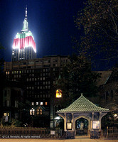 Empire State Building and Little Church around the Corner, NYC